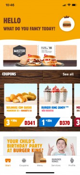 Airtouch Mobile Development for IOS Android Burger King Portugal App Airtouch