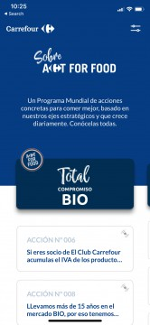 Airtouch Mobile Development for IOS Android Carrefour Act for Food Spain App Airtouch