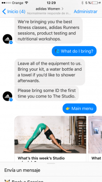 Adidas Chatbot Facebook Messenger Airtouch