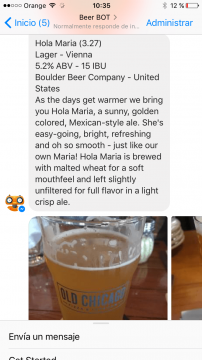 BeerBot Chatbot Facebook Messenger Airtouch