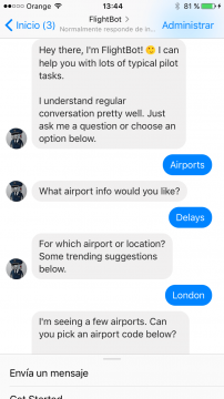Flightbot Chatbot Facebook Messenger Airtouch