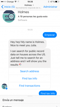 Holmes Chatbot Facebook Messenger Airtouch