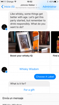 Johnnie Walker Chatbot Facebook Messenger Airtouch