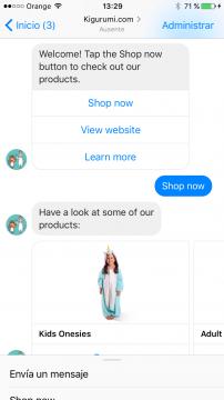 Kigurumi Chatbot Facebook Messenger Airtouch